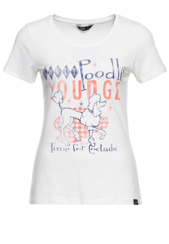 Slim Fit T-Shirt mit Frontprint »Poodle«