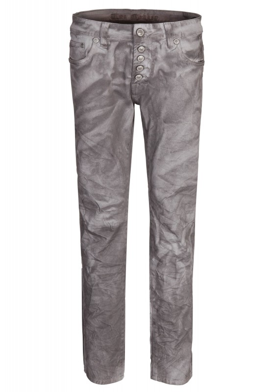 BLUE MONKEY Gesprayte Jeans mit Crinkle-Look Alex 4239