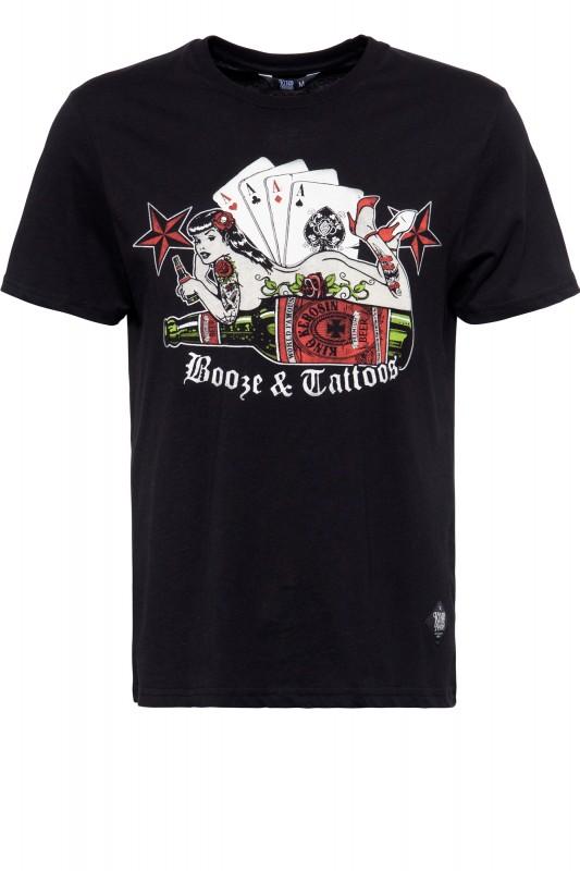 T-Shirt »Booze & Tattoos« - Bild