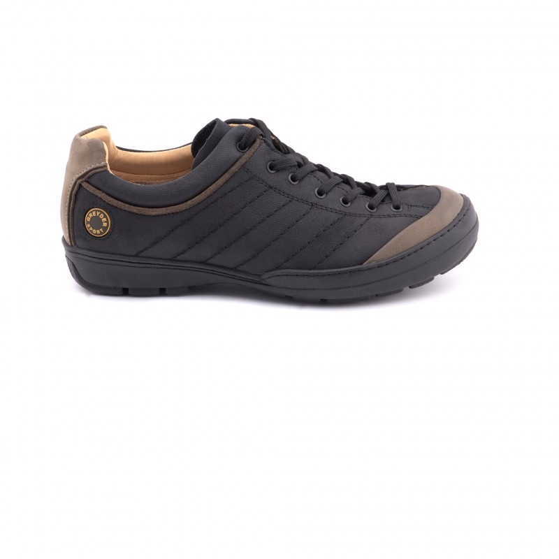 Sneaker, mit Kontrastpaspelierung, schwarz, schwarz Greyder