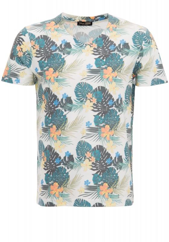 DANIEL DAAF T-Shirt mit floralem Alloverdruck