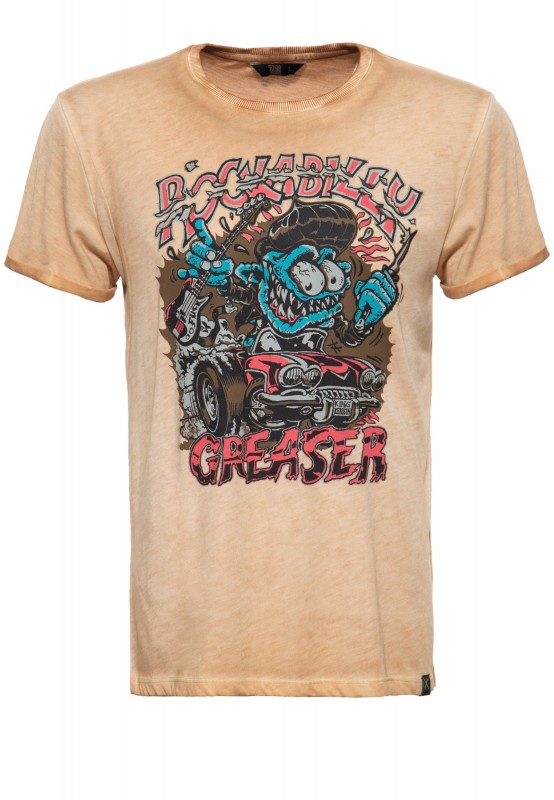 Printshirt »Rockabilly Greaser«