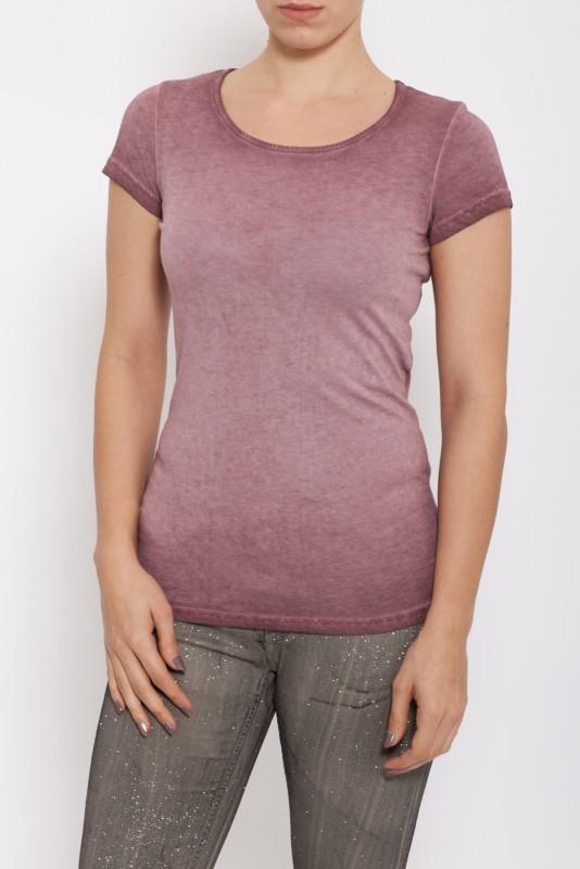 Basic T-Shirt oil washed - bordeaux