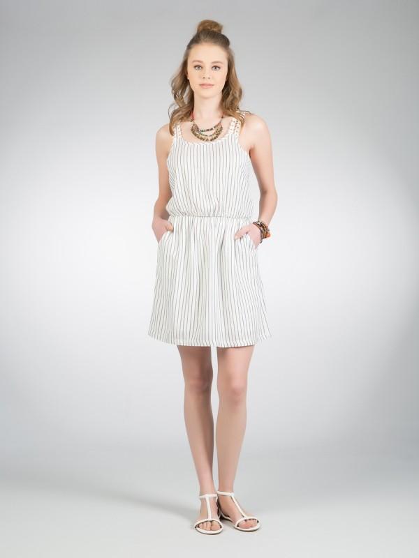COLINS Sommerkleid mit Spitzeneinsatz