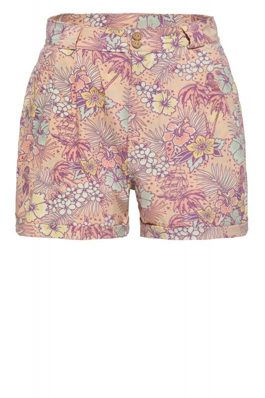 Damen Shorts mit hawaiianischem All-Over-Muster